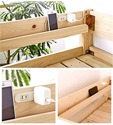 木製ロフトベッドロータイプ総檜ベッド檜すのこベッド