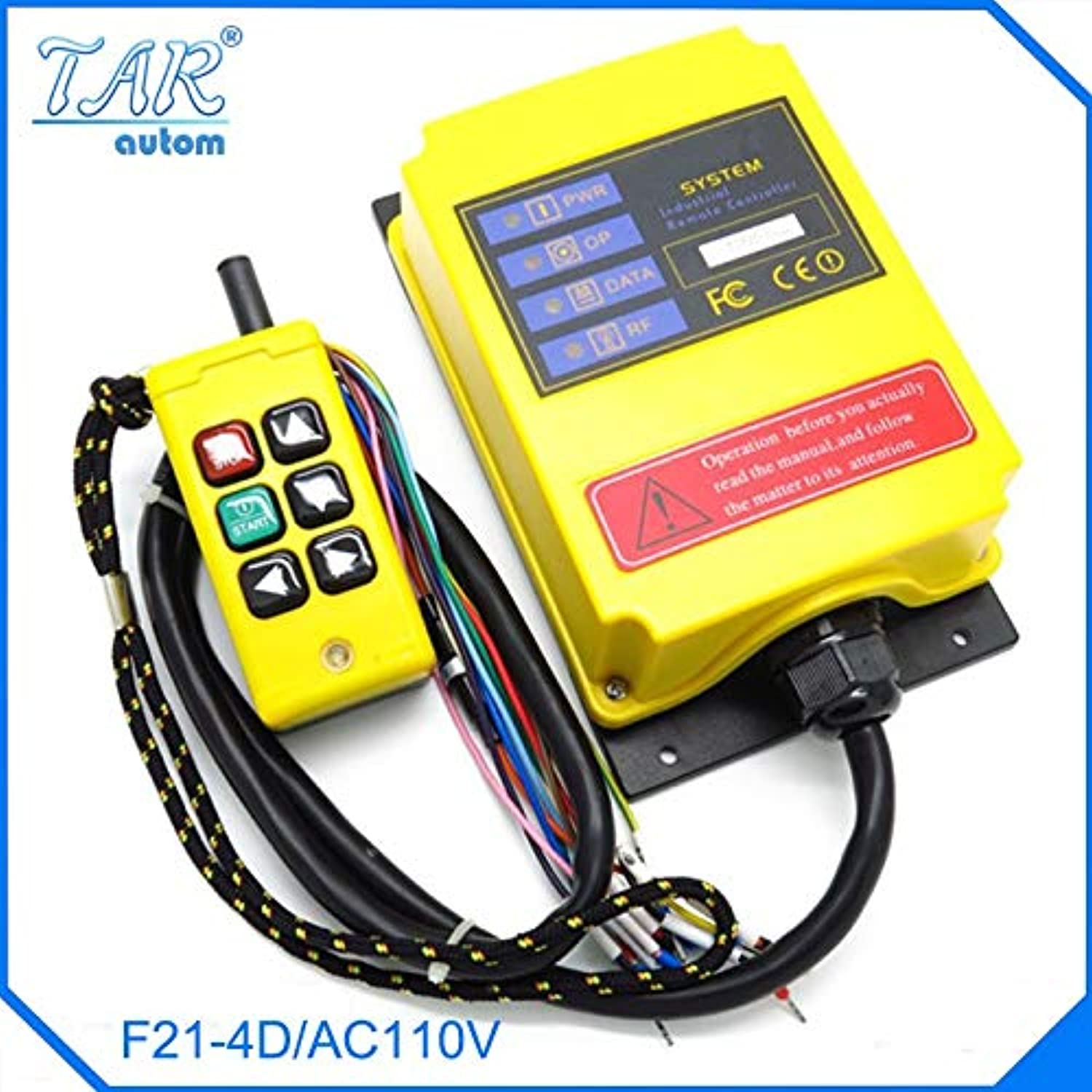 Two Speed FourDirection Crane Industrial Wireless Remote Control Transmitter 1 Receiver F21-4D AC110 Sensor Motion livolo