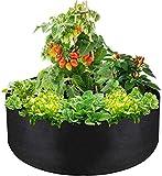 RENFEIYUAN Bolsas de Cultivo Grandes 50 Gallon Bolsas de Cultivo de Plantas Transpirables de Tela no Tejida plantador para la Zanahoria de Tomate de Patata Vegetal Bolsa de Cultivo (Color : Black)