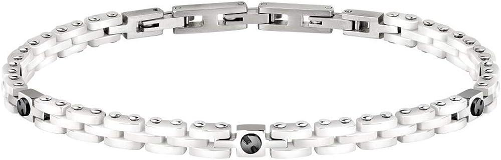 Morellato bracciale da uomo collezione ceramic in acciaio e ceramica 8033288895732
