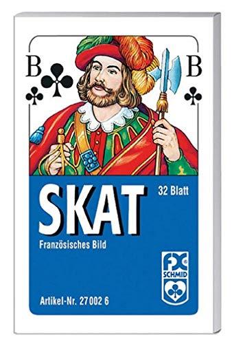 Ravensburger Spielkarten 27002 - Klassisches Skatspiel, Französisches Bild, 32 Karten in der Faltschachtel