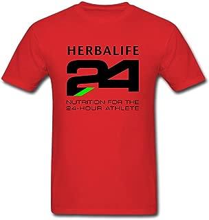 Gorgeous Red Herbalife 24 Black T-shirt For Men