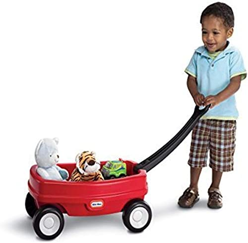 Little Tikes Lil' Wagon – Red And Black, Indoor and Outdoor Play, Easy Assembly, Made Of Tough Plastic Inside and Out...