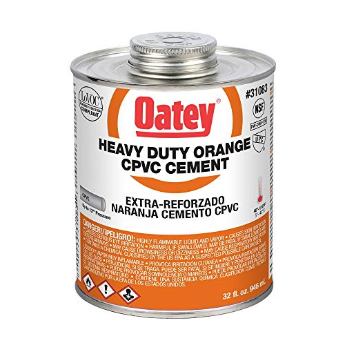 Oatey 31083 32 oz Heavy Duty Cement, CPVC Orange