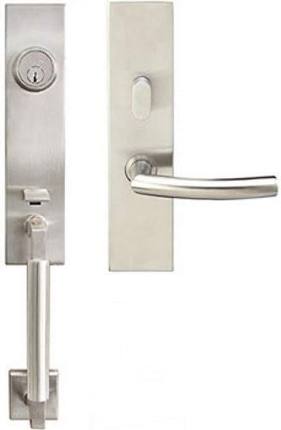 Full Dummy Left Polished Stainless Steel Champagne Lever INOX MH214TDP-32-LH MH Handleset Tubular