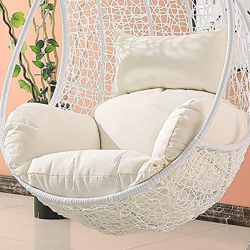 Ncloyn Swing Sospeso Uovo Cuscino per Sedia, (Senza Piedistallo), Seduta Nido Cuscino Tonda per Uovo Amaca Poltrona Sospesa, Cuscino per Courtyard Balcone-i 105x105cm