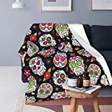 Sugar Skull Bed Blanket Plush Blanket - Fluffy Warm Cozy Luxury Couch Throw Blanket - Bedroom Microfiber Durable Blanket for Bed Couch for Baby(50'x40')