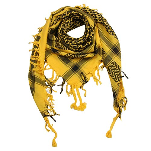 Superfreak Palituch - gelb - schwarz - 100x100 cm - Pali Palästinenser Arafat Tuch - 100{385b527c3488861a12fbadf759d2c8669f069ba5e964b7756c66d06fdb89b49e} Baumwolle