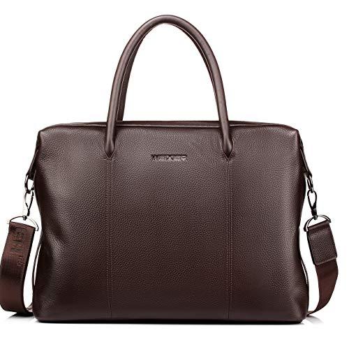 Leather Men's Handbag Large-Capacity Travel Bag Head Layer Leather Business Bag Briefcase One-Shoulder Bag Computer Bag 2