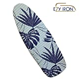 Ezy Iron Padded Ironing Board Cover Thick Padding, Slashes Your Iron Time, Heat Reflective Fits Standard and Large Boards 15' x 54' Premium Heavy Duty Cover and Pad (Beige)