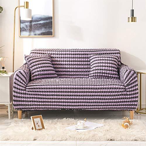 wjwzl Chaiselongue-Sofaüberwurf, elastisch, rutschfest, für Wohnzimmer, Schlafzimmer, Sofa, violett, 1 W, (3 Sitze) 190x230cm