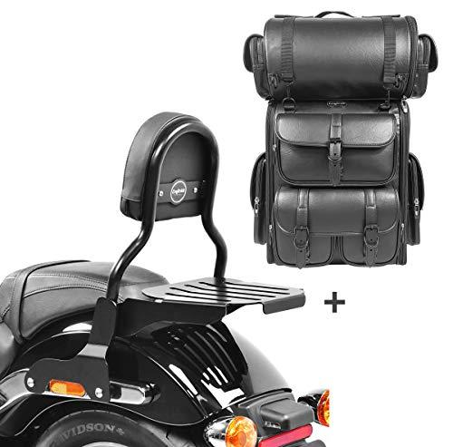 Respaldo CL Fix + Bolsa Trasera LX para Harley Sport Glide 18-21
