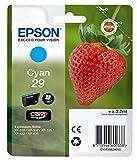 Epson Claria Home 29 - Cartucho de tinta estándar de 3,2 ml, paquete estándar, color cian válido para EPSON Expression Home XP-235 / XP-245 / XP-247 / XP-332 / XP-335 / XP-342 / XP-345 / XP-432 / XP-435 / XP-442 / XP-445