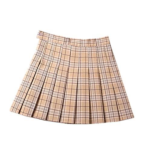 N\P Las mujeres plisadas faldas de verano de cintura alta de las señoras de la danza mini falda Harajuku Preppy