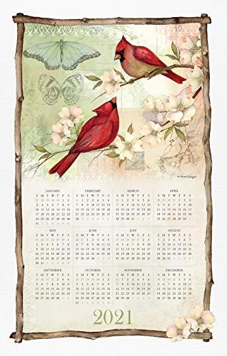 Spring Cardinals 2021 Calendar Towel
