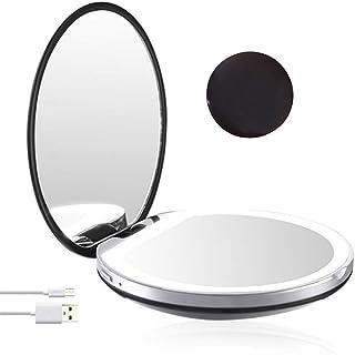 CoolTack 軽い女の子の女性が付いている化粧鏡ライト小型携帯用LED化粧鏡