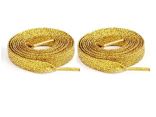 ILOVEDIY 1 Paar Schnürsenkel - flach in verschiedenen Farben (Golden)