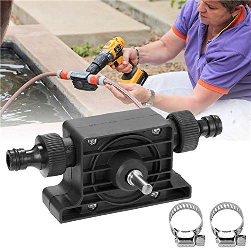 QWERTOUR Hand Electric Drill Water Pump Convenient Type Direct Water Pump Since Suction Centrifugal Pump Household Small Pumping