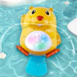 iPlay, iLearn Electronic Baby Bath Toy, Toddler Water Spray Bathtub Toys W/ Lights, Kids Fun Bathtime Float Sea Animal, Tub Shower Sprinkler Toy Gift for 12 18 24 Month, 1 2 3 Year Old Infant Boy Girl