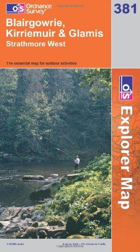 OS Explorer map 381 : Blairgowrie, Kirriemuir & Glamis