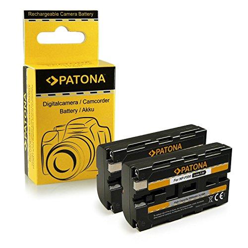 PATONA 2x Batteria NP-F550 compatibile con Sony CCD-TR940 CCD-TRV820 CCD-TRV900 CCD-TR200
