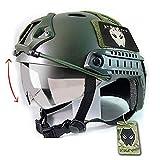 ATAIRSOFT Army Military Style-SWAT Kampf PJ Schnelle Helm w/Schutzbrille OD Green für CQB Airsoft Paintball Schießen