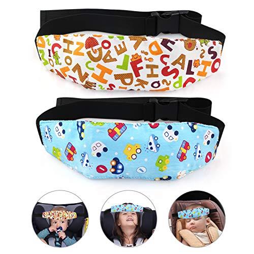 TonStyle Soporte Seguridad de la Cabeza para Bebe en el Coche, Ajustable Bebés Soporte de la Cabeza para Cinturón de Coche Correa de Seguridad para el Asiento del Coche para Niños-Paquete de 2
