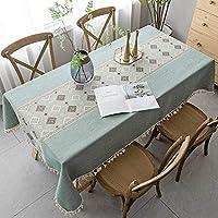 テーブルクロス 北欧 おしゃれ 綿麻 長方形 100×160cm テーブルカバー 古典的 フリンジ 食卓カバー 防塵 耐熱 ナチュラル 雰囲気 新築お祝い 贈り物