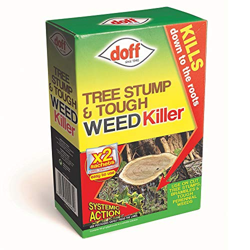 Doff Tree Stump Killer Tough Weedkiller Super Strength, 2 x Doff Tree Stump and Tough Weedkiller Sachets by Thomspon and Morgan