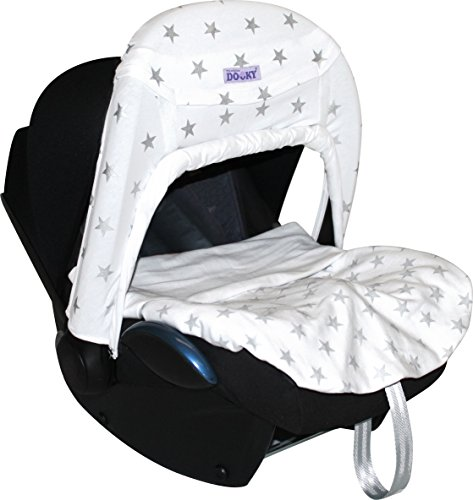 Dooky Blanket (Silver Stars) Dooky A universal and multifunctional blanket Made from 100% luxurious breathable cotton Perfect for any car seats, pushchairs, prams or carry cots 4