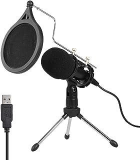 Loijon Kit de Microfone Condensador USB com Tripé