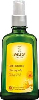 WELEDA Calendula Massage-Öl, Naturkosmetik Körperöl für die Pflege und Massage empfindlicher Haut, belebt und hält die Haut glatt, Pflegeöl mit einem erholsam frischen Duft 1 x 100 ml
