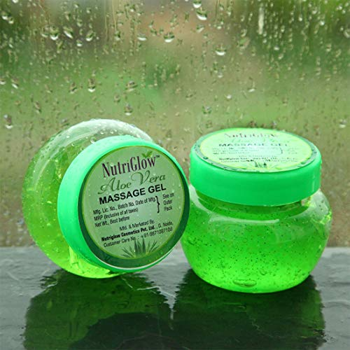 NutriGlow Aloe Vera Massage Gel for Acne / Scars / Glowing /Radiant Skin / Hydrating Gel For Face /Skin Moisturizer