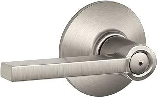 Schlage F40 LAT 619 Latitude Privacy Lever, Satin Nickel