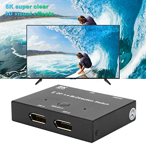 DisplayPort 8k 1.4 Conmutador bidireccional, Resistente a caídas Transferencia de computadora Duradero Resistente al Desgaste para PC