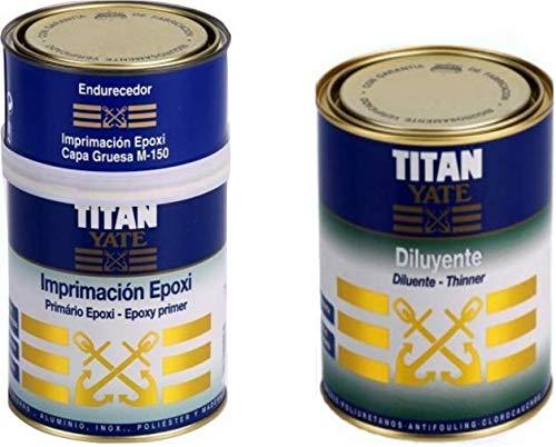 Imprimación Epoxi Titan Yate 750 ml + Diluyente para yates Titan Yate 1 L
