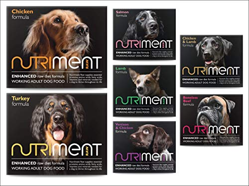 Nutriment Adult Working Dogs Raw Food (Mixer Box of 20 Trays) - Complete...