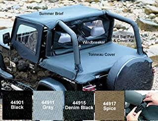 Tonneau Cover, Hardware Removed, Spice Brown for 1992-1995 Jeep YJ Models