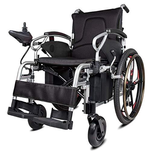CANDYANA Leichter Elektrorollstuhl Faltbare Elektrorollstühle (Li-Ionen-Akku), Fahren mit Elektroantrieb oder Verwendung als manueller Rollstuhl