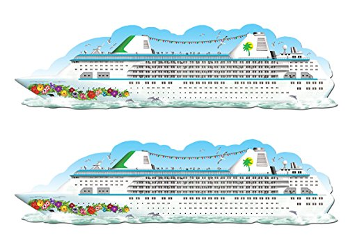 Beistle , 2 Piece Jointed Cruise Ships, 6'