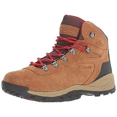 Columbia Women's Newton Ridge Plus Waterproof Amped Hiking Boot, Elk, Mountain Red, 10 B US