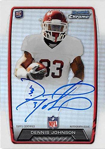 Dennis Johnson autographed Football Card (Arkansas Razorbacks) 2013 Bowman Chrome Refractor #RCRADEJ Rookie