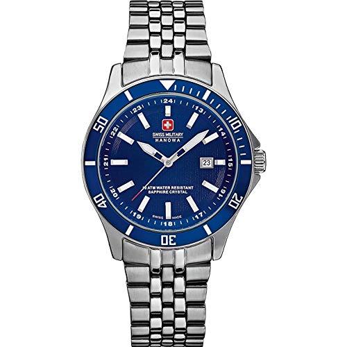 SWISS MILITARY-HANOWA Damen Analog Quarz Uhr mit Edelstahl Armband 06-7161.2.04.003