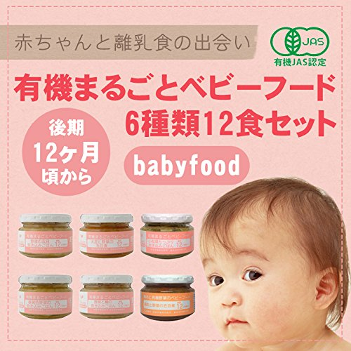 無添加ベビーフード12ヶ月頃から離乳食6種類12食セット(国産有機素材天然素材使用)
