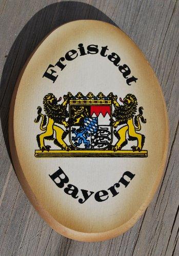 Geschenkbox Das bayrische Holzschild mit Freistaat Bayern Wappen - Ein edles Schild mit Bayern Logo