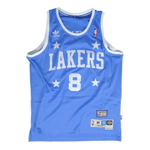 adidas Kobe Bryant Los Angeles Lakers #8 NBA Youth Hardwood Classics Soul Swingman Jersey - Blue (Youth Small (8))