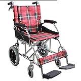 PAP Multifunktionsaluminiumlegierungs-Leichter Faltender Manueller Rollstuhl, Ultraleichtes Tragbares Medizinisches Erwachsenes Medizinisches Versorgungsmaterial, Rosa, a
