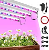 Lampe Horticole Culture Indoor CXhome LED Horticole T5 IP65 Grow LED avec Minuterie 3H/6H/12H et Luminosité Dimmable 25%/50%/75%/100% pour Intérieur/Serre/Hydroponique/Grow Box Culture [4Pcs]