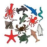 Fun Express Plastic Animals Ocean Animals - 12 piece Sea Creature Toys Set