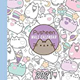 Pusheen 2021 Wall Calendar: 12 Month Calendar With Many Colorful Photos. Size 8.5 x 8.5 Inches.